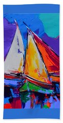 Sails Colors Beach Sheet by Elise Palmigiani