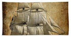 Sails Full And By Beach Towel