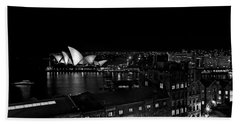 Sails In The Night Beach Towel