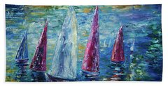 Sails To-night Beach Towel