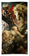 Saint George And The Dragon Beach Towel