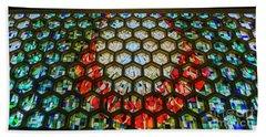 Saint John's University Abbey Stained Glass Magic Beach Towel