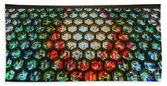 Saint John's University Abbey Stained Glass Magic Beach Sheet