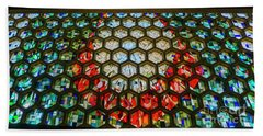 Saint John's University Abbey Stained Glass Magic Beach Towel