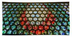 Saint John's University Abbey Stained Glass Magic Beach Sheet