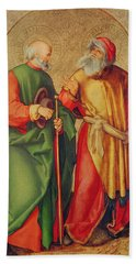 Saint Joseph And Saint Joachim Beach Towel