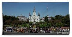 Saint Lewis Cathedral French Quarter New Orleans, La Beach Towel