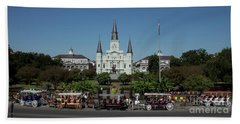 Saint Lewis Cathedral French Quarter New Orleans, La Beach Towel