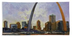 Saint Louis Skyline 3 Beach Towel