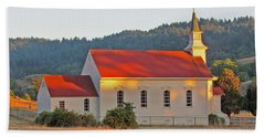 St. Mary's Church At Sunset Beach Towel