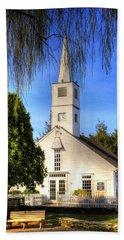 Beach Towel featuring the photograph Saint Mathais Angelican Church by Tom Prendergast