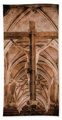Paris, France - Saint Merri's Cross II Beach Sheet