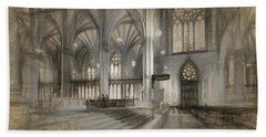 Saint Patrick's Cathedral In New York City Beach Towel