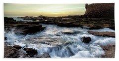 Beach Towel featuring the photograph Saint Sebastian Castle Cadiz Spain by Pablo Avanzini