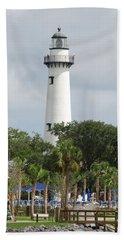 Saint Simons Island Light Beach Sheet
