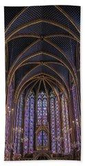 Sainte Chapelle Stained Glass Paris Beach Towel