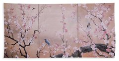 Sakura - Cherry Trees In Bloom Beach Sheet