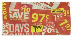 Sale Clippings Beach Towel