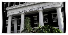 Beach Towel featuring the photograph Salem College by Jessica Brawley