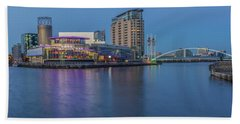 Salford Quays And Lowry Centre Beach Towel