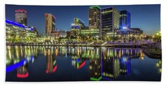 Salford Quays Panorama Beach Towel