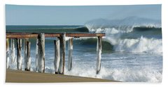 Beach Towel featuring the photograph Salisbury Winter Storm by Betty Denise