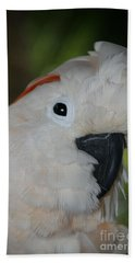 Salmon Crested Cockatoo Beach Towel
