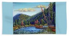 Salmon River - Stanley Beach Towel