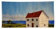 Saltbox House Beach Sheet by Diane Arlitt