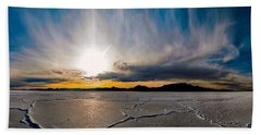 Salt Flats Sunset Beach Towel