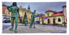 Beach Towel featuring the photograph Salt Miners Of Wieliczka, Poland by Juli Scalzi