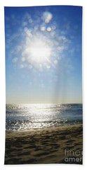 Beach Sheet featuring the photograph Salt Spray Sun by Cassandra Buckley