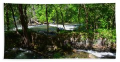 Beach Towel featuring the photograph Saluda River Columbia Sc by Lisa Wooten