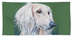 Saluki Sighthound Beach Towel by Lee Ann Shepard