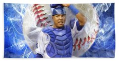 Salvy The Mvp Beach Sheet by Colleen Taylor