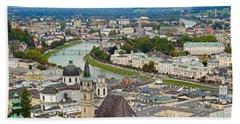 Salzburg From Hohensalzburg Castle Beach Sheet