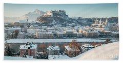 Salzburg Winter Morning Beach Sheet