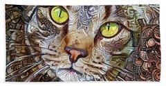 Sam The Tabby Cat Beach Sheet