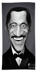 Beach Towel featuring the digital art Celebrity Sunday - Sammy Davis Jnr by Rob Snow