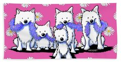 Sams And Westie Beach Towel