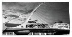 Samuel Beckett Bridge In Bw Beach Towel