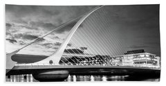 Samuel Beckett Bridge In Bw Beach Sheet