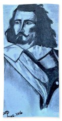Samuel De Champlain Beach Towel by Francine Heykoop