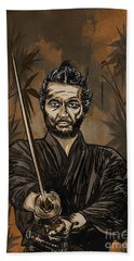 Samurai Warrior. Beach Towel