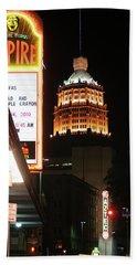 San Antonio Downtown Night Beach Sheet