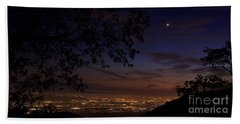San Bernardino Twilight Hour Beach Towel by Angela J Wright