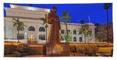 Beach Towel featuring the photograph San Buenaventura City Hall by Susan Candelario