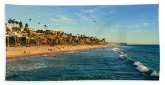 Beach Sheet featuring the photograph San Clemente Coastline - California by Glenn McCarthy Art and Photography