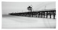 San Clemente Pier Beach Sheet by Tassanee Angiolillo