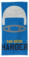 San Diego Chargers Vintage Art Beach Towel by Joe Hamilton